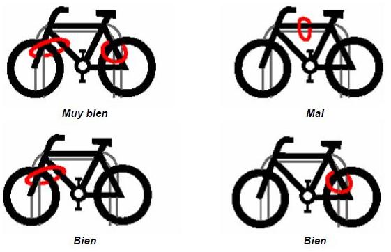Cómo atar bien la bicicleta