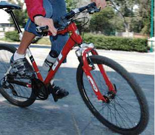 Posición del pedal al girar