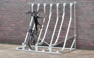 Bicicletero de soporte diagonal