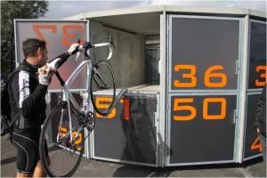 Consigna de bicicletas cerrada