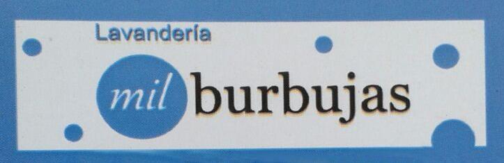 """Logo Lavandería """"Mil Burbujas"""""""